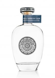 Rosemullion Distillery's Seafarer's Gin, flavoured with coastal botanicals and seaweed.