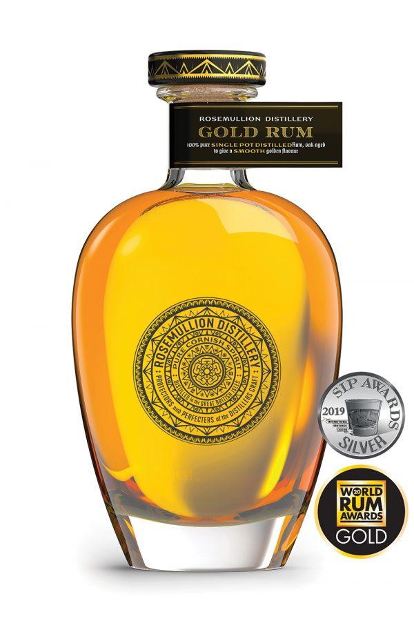 Rosemullion Distillery's multi-award-winning Gold Rum, created in Cornwall.