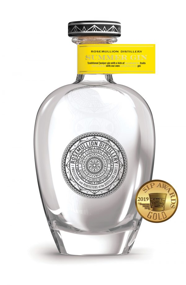Rosemullion Distillery's award-winning Cornish Summer Gin.