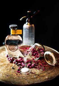 Rosemullion Distiller Summer Rose Martini, using Summer Gin.