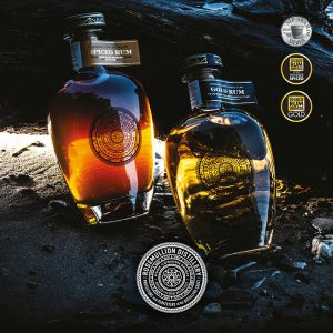 Rosemullion Distillery's award-winning Gold and Spiced rum, created in Cornwall.